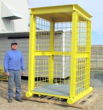 Wood Yard Truck Driver Protection Station