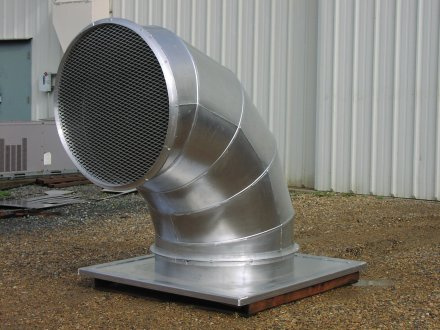 Paper Mill Man Cooling Duct