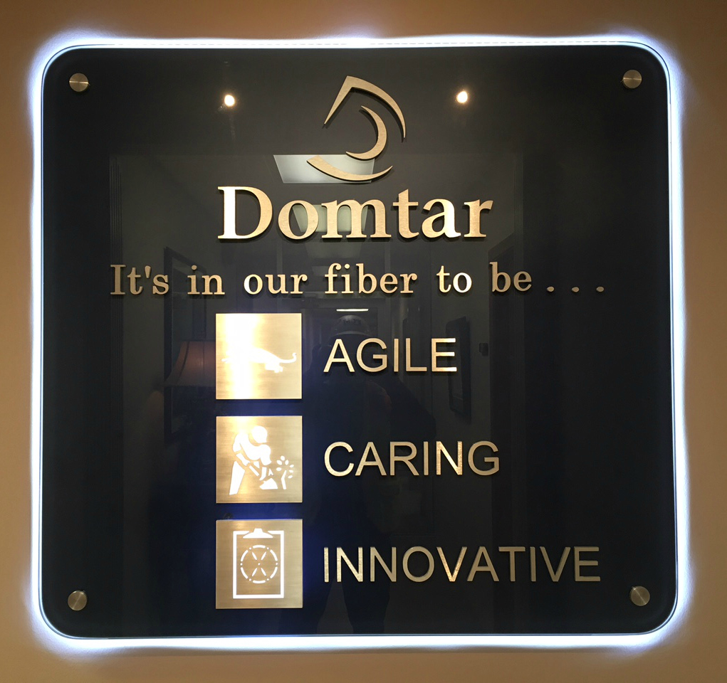 Domtar sign
