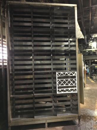 Stainless steel filter rack at IP Mansfield
