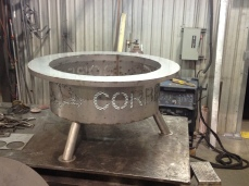 Custom stainless steel pit grill