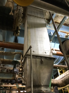 Chute for CLO2 Washer Vat
