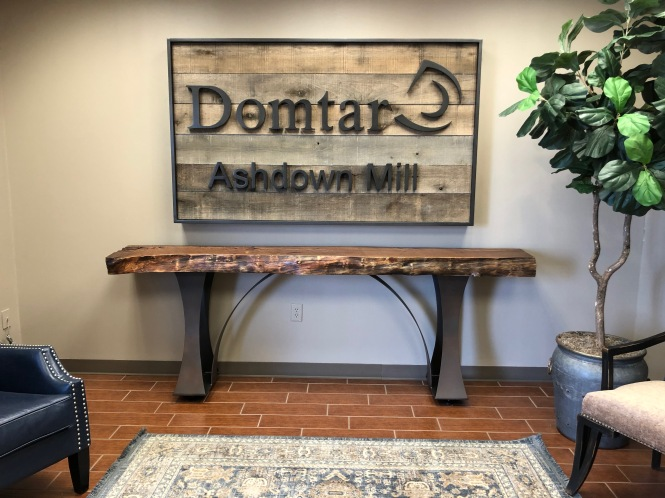 Domtar Ashdown Sign and Table