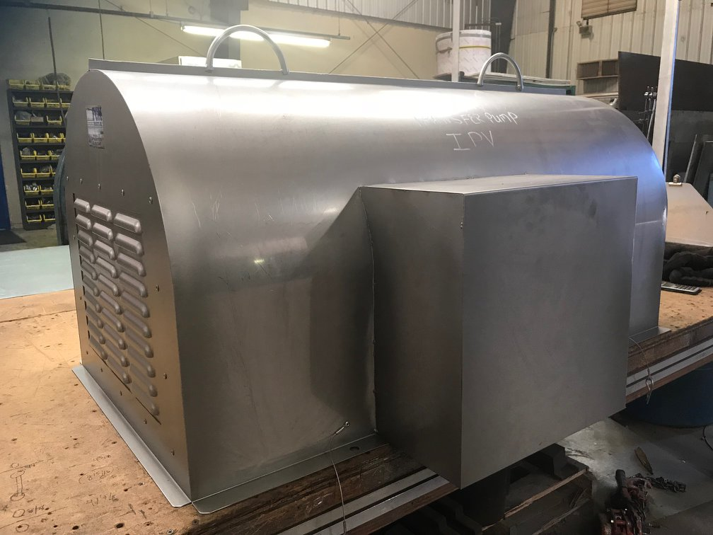 Stainless steel motor and coupling cover